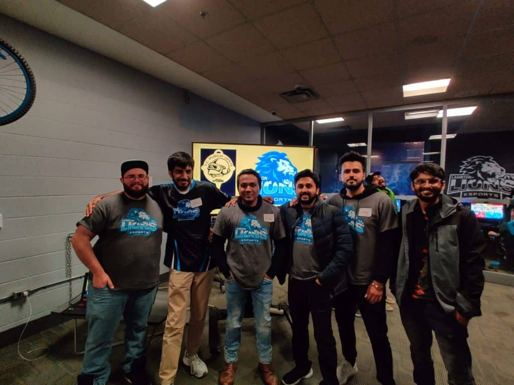 Standing with the team during that hosted the LC PUBG Mobile Tournament